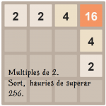 Multiples de 2. Intenta superar 256. Sort