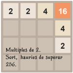 Multiples de 2. Intenta superar 256. Sort
